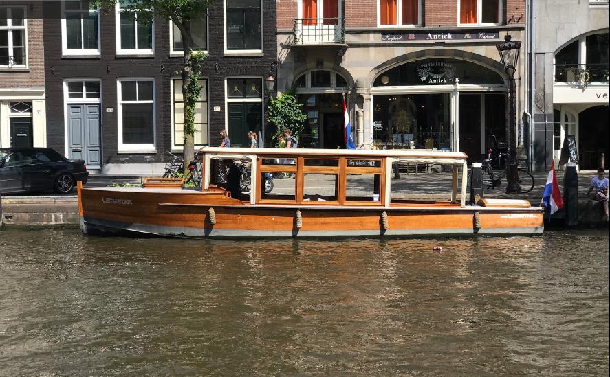 Classic wooden boat Amsterdam